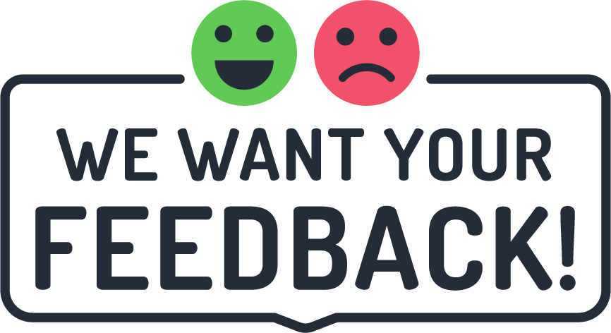 We want your feedback link image