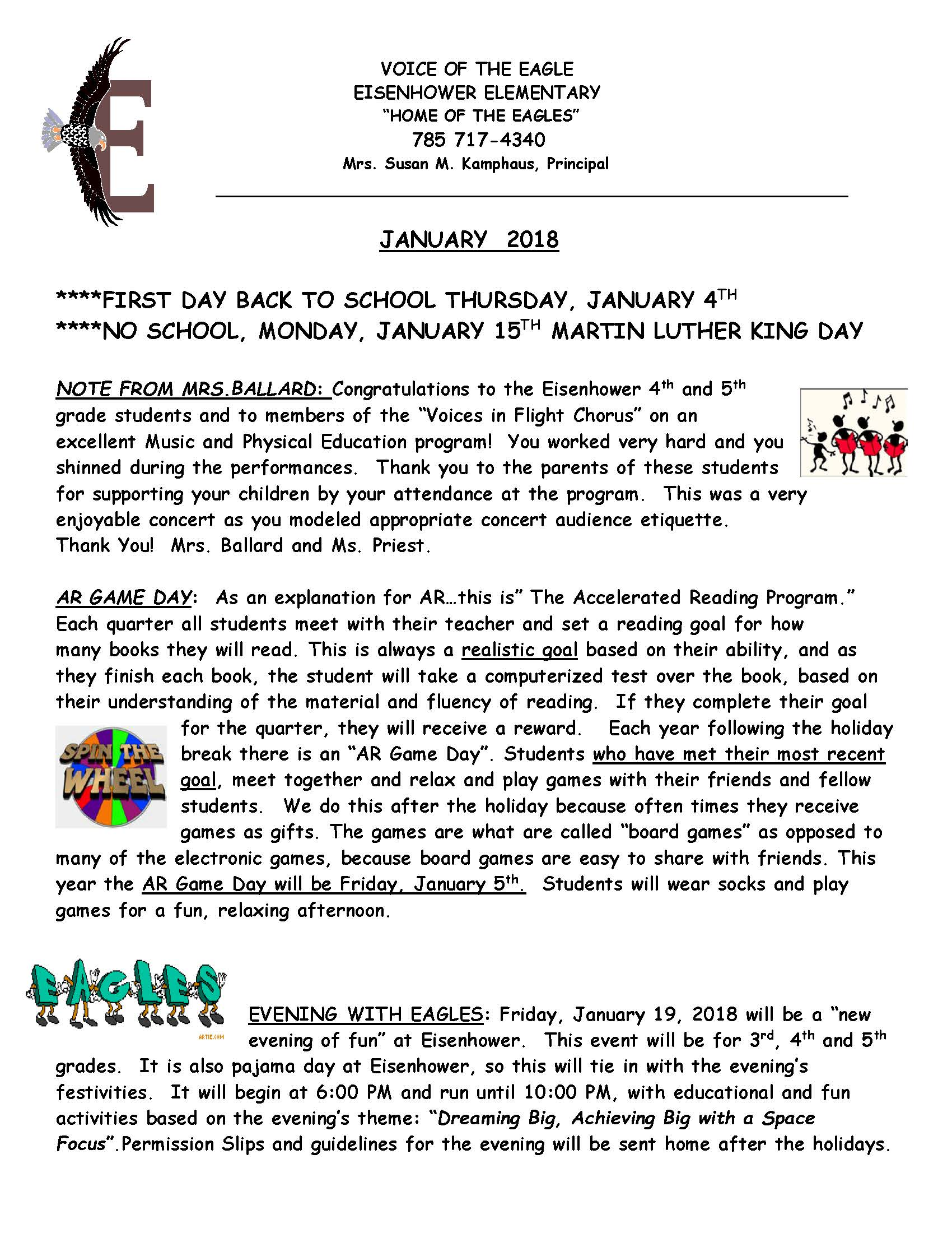 January Newsletter 2018 Page 1