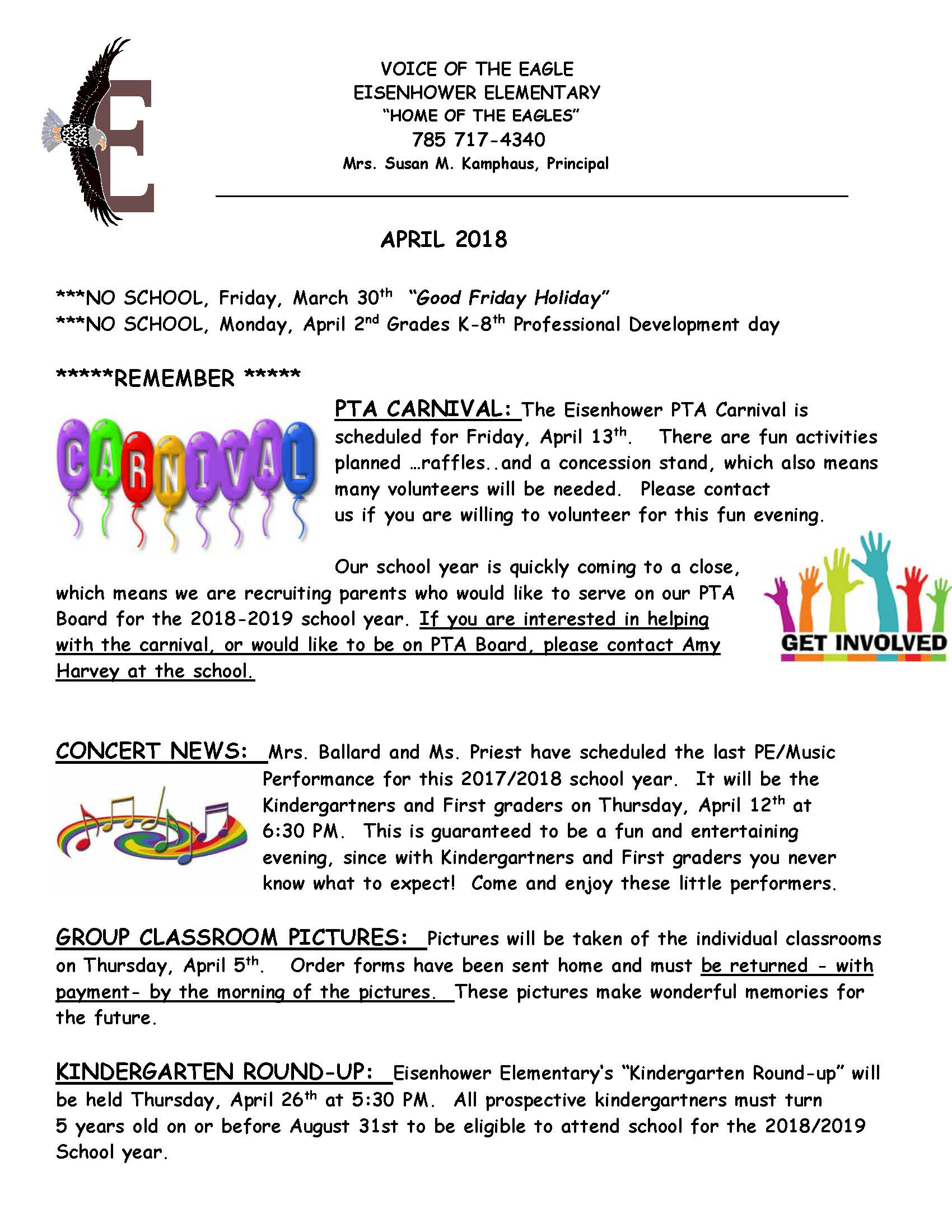 April eNewsletter page 1