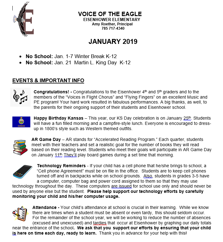 Picture of January Newsletter